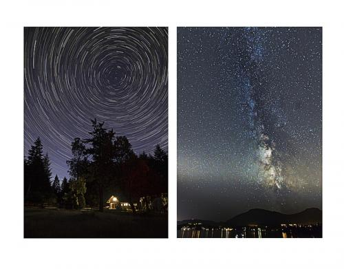 Milky Way over Ladysmith and Star Trails over Yellow Point © Doug Bell