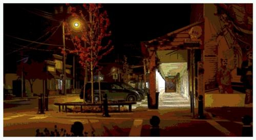 Chemainus Street Scene © Art Jurisson