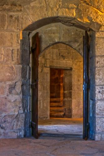 Staircase inside Kolossi Castle © Rosemary Ratcliff